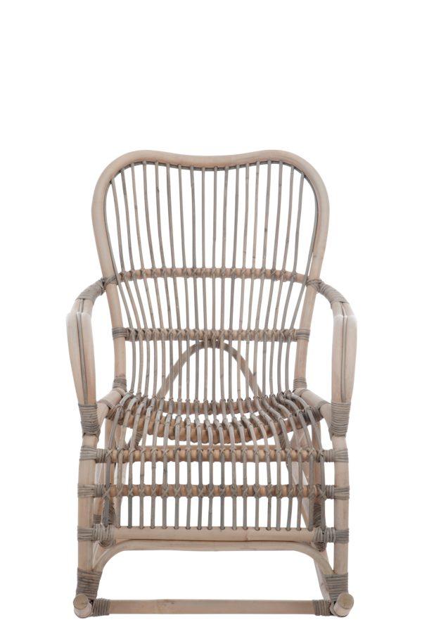 schommelstoel rotan grijs bruin