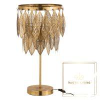 Tafellamp Elisa Bladeren Metaal Goud