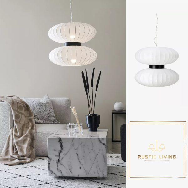 DABURU Hanglamp 2Lamps textiel wit