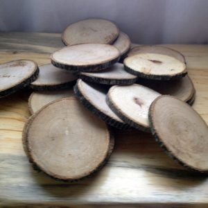 poplar wood slices, rustic ornaments