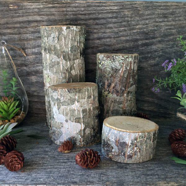 log pillars