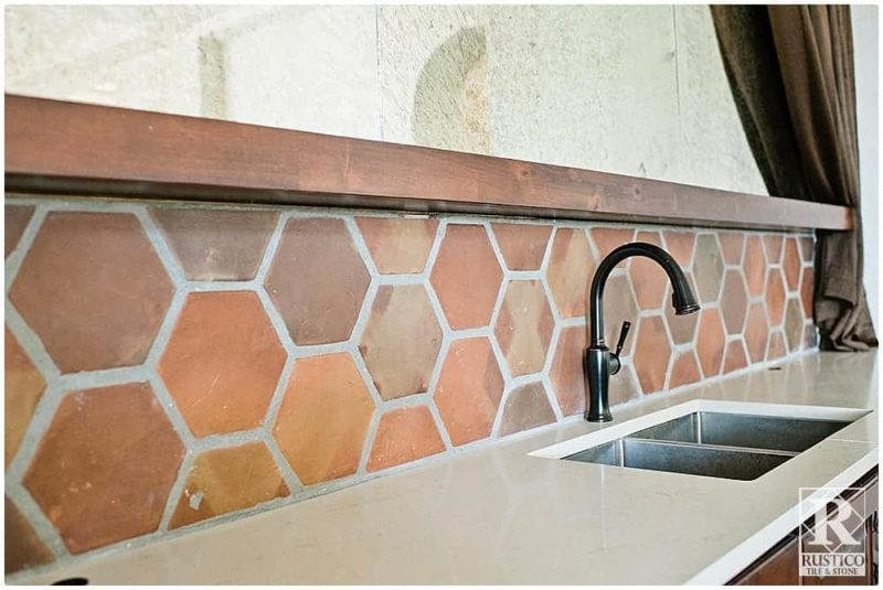 6x6 hexagon rustico tile stone