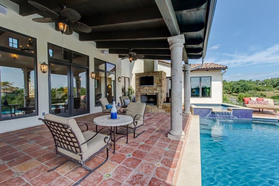 outdoor spanish patio floor tile