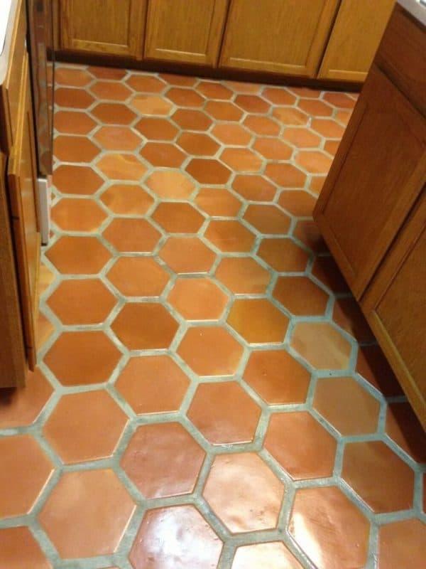 mexican saltillo tile 8x8 hexagon terracotta floor mexican pavers