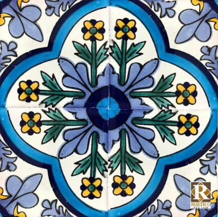 hand painted mexican talavera tile 6x6 dolores 10 boxes clearance