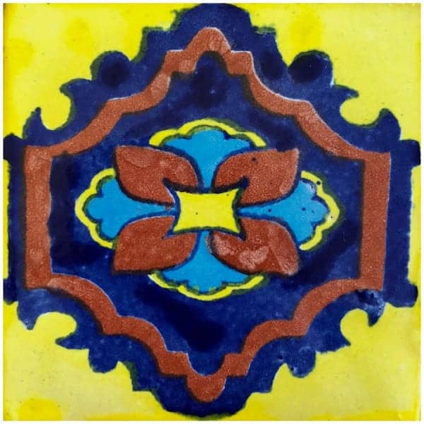 mexican ceramic talavera tile 6x6 madrid 10 boxes clearance