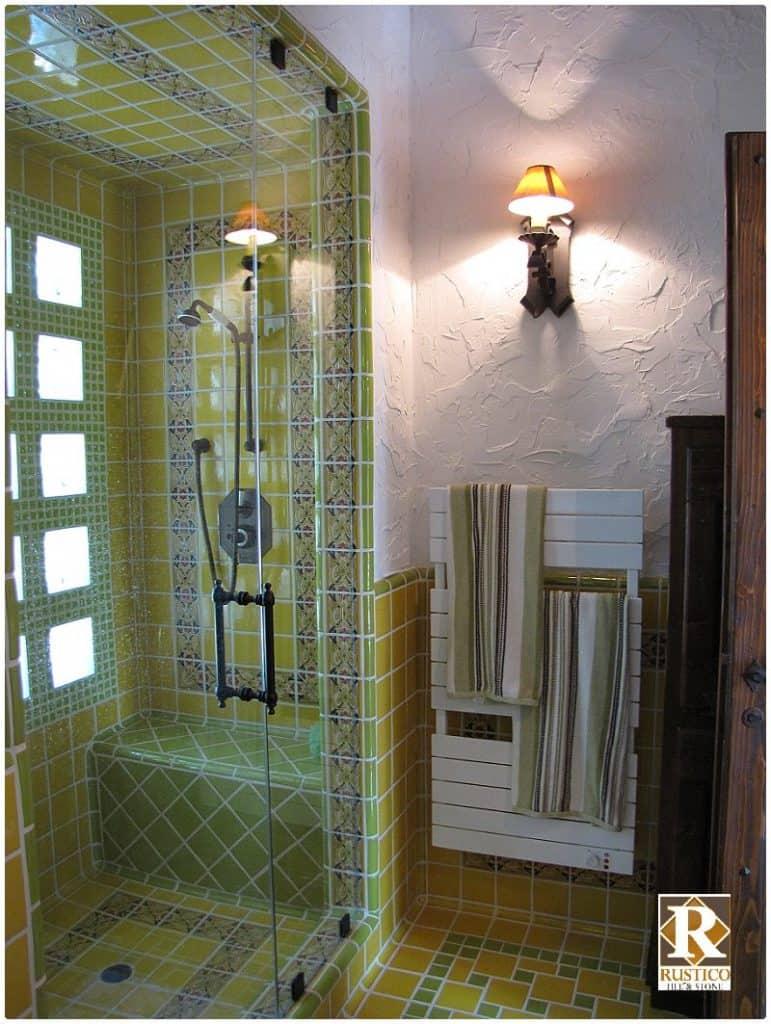 talavera tile for showers rustico