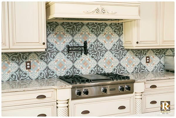 mexican tile rustic style decor