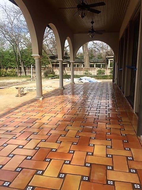 saltillo outdoor patio tile photos