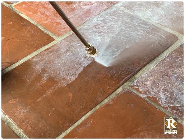 how to strip saltillo tile visual