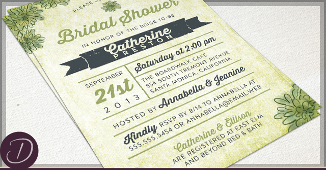 Rustic Succulent Invitations by D