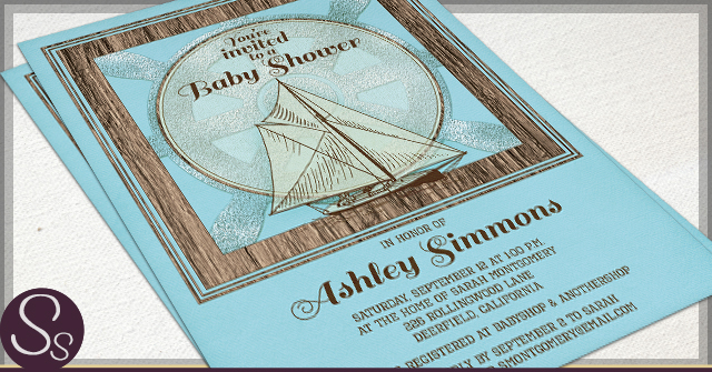 Rustic Baby Shower Invitations by SS
