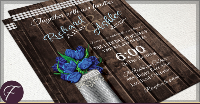 Rustic Tin Can Wedding by F