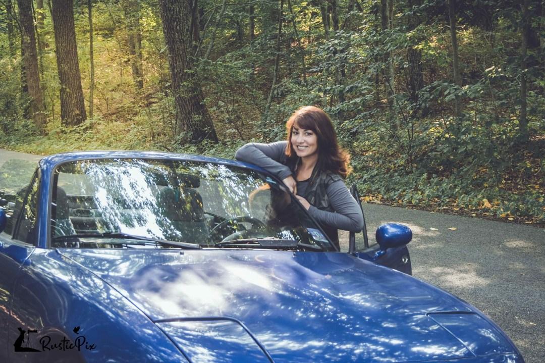 Cheryl with Lil Car