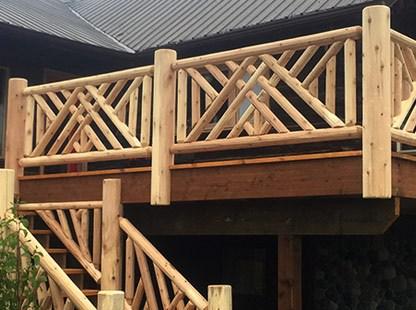 Ryan S Rustic Railings Custom Log Furniture Orr Mn | Rustic Banisters And Railings | House | Pallet | Veranda | Farmhouse | Solid Wood