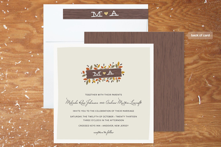 Rustic Wedding Invitations Minted