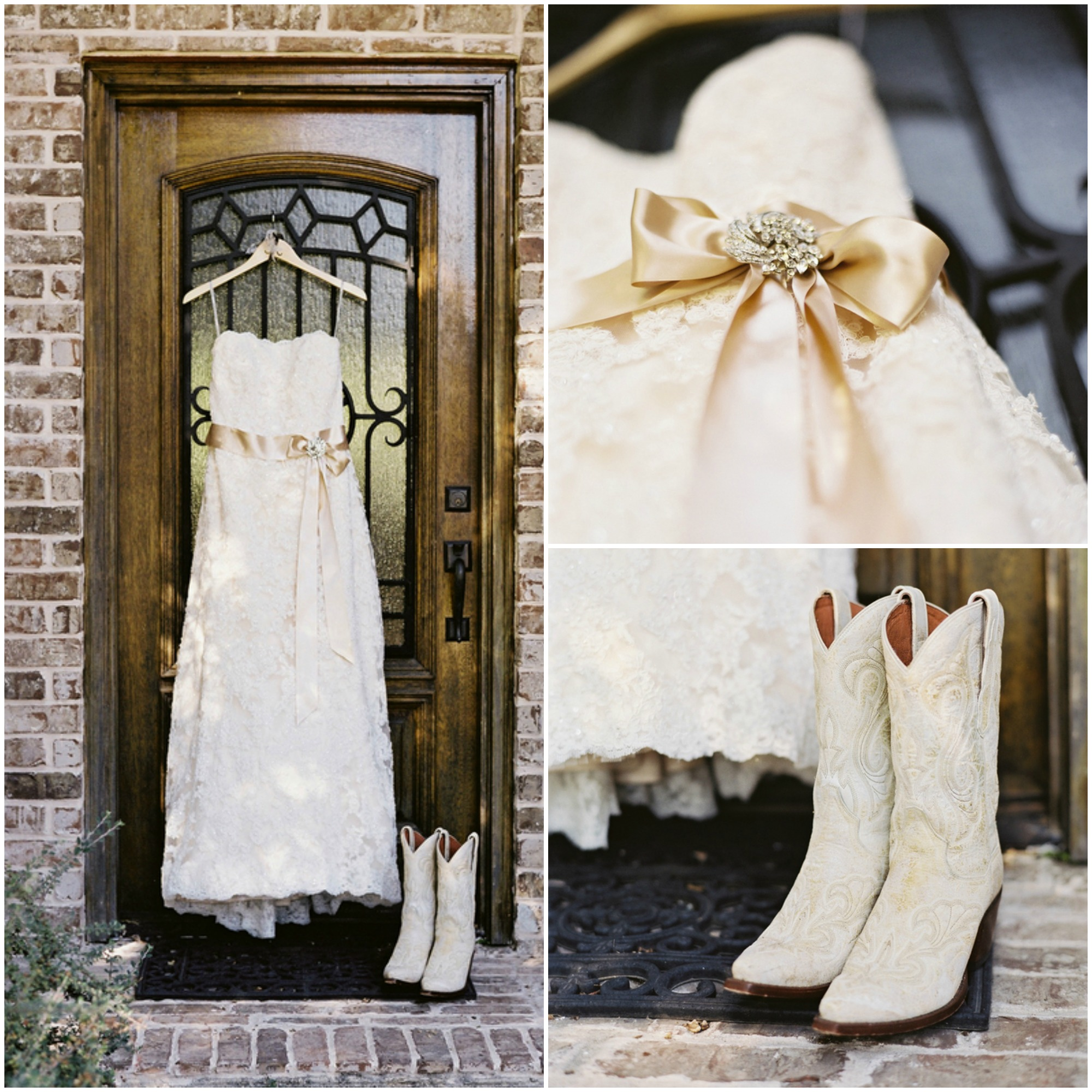 Country Wedding Dresses To Wear With Boots: Wildcard Wednesday: Cowboy Boots