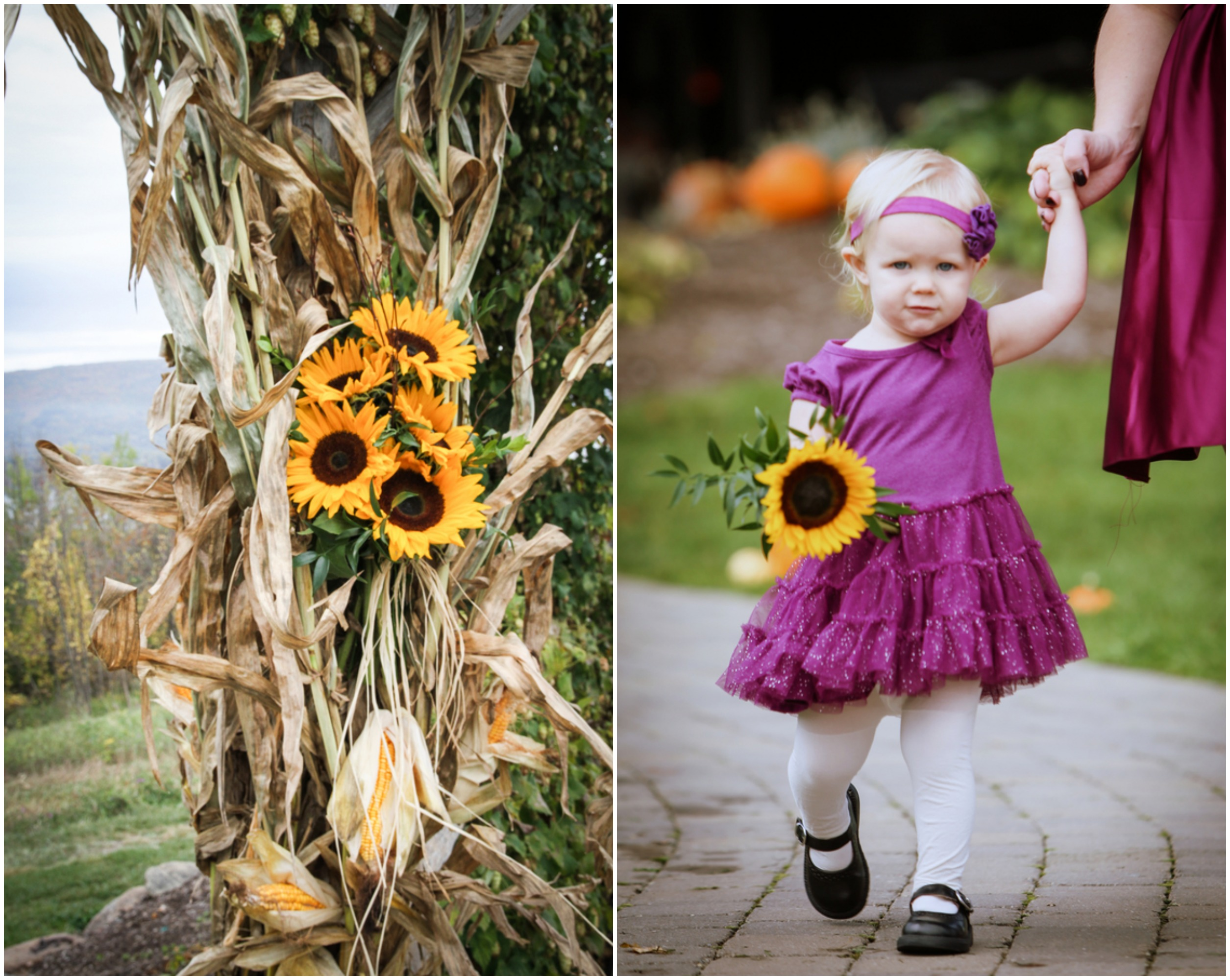 Fall Wedding With Sunflowers
