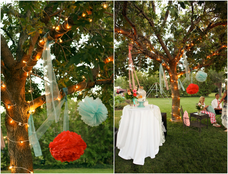 Bright And Colorful Backyard Wedding