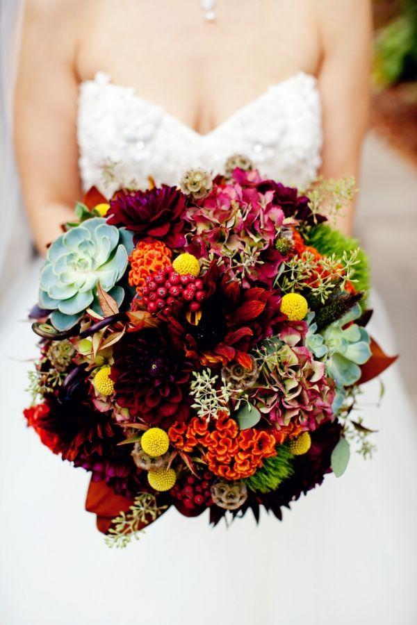 Fall Wedding Bouquet Flowers