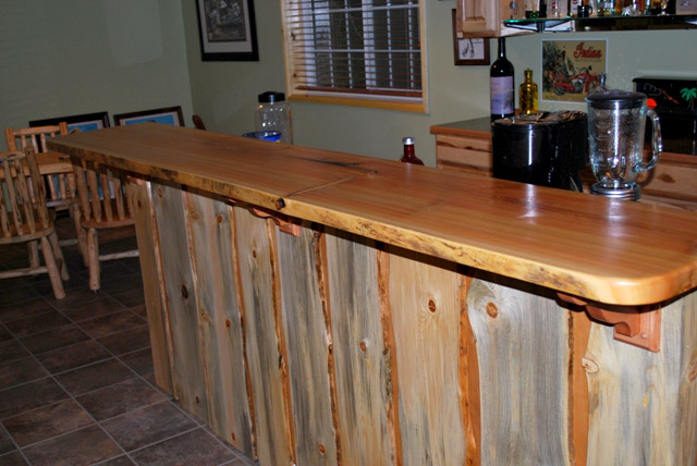 pine bar top, blue pine waincot