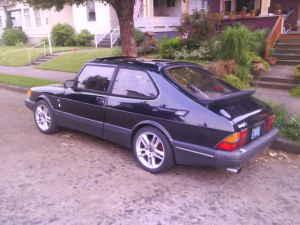 1989 Saab 900 rear