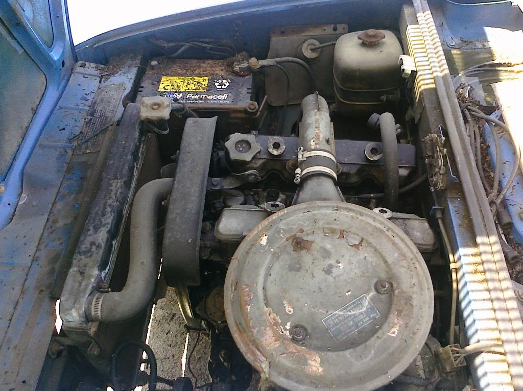 1969 Fiat 124 Coupe engine