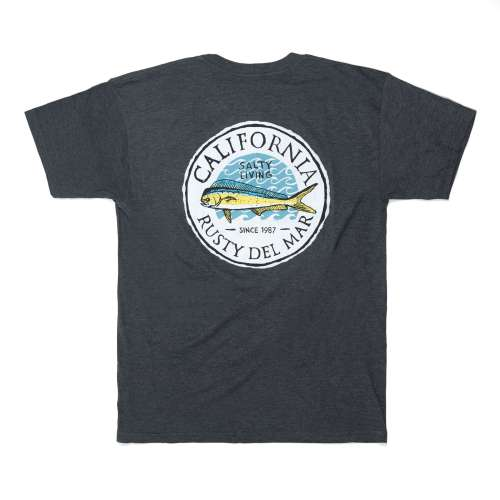 Salty Fish Short Sleeve T-Shirt in Heather Grey