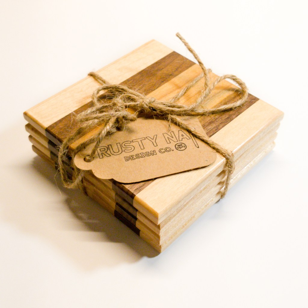 Maple, Walnut, & Cherry Coasters