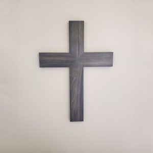 Carbon Gray wood cross