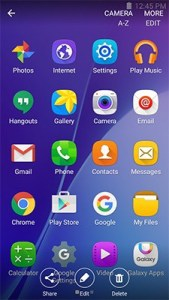 Galaxy J3 Emerge Screenshot Share