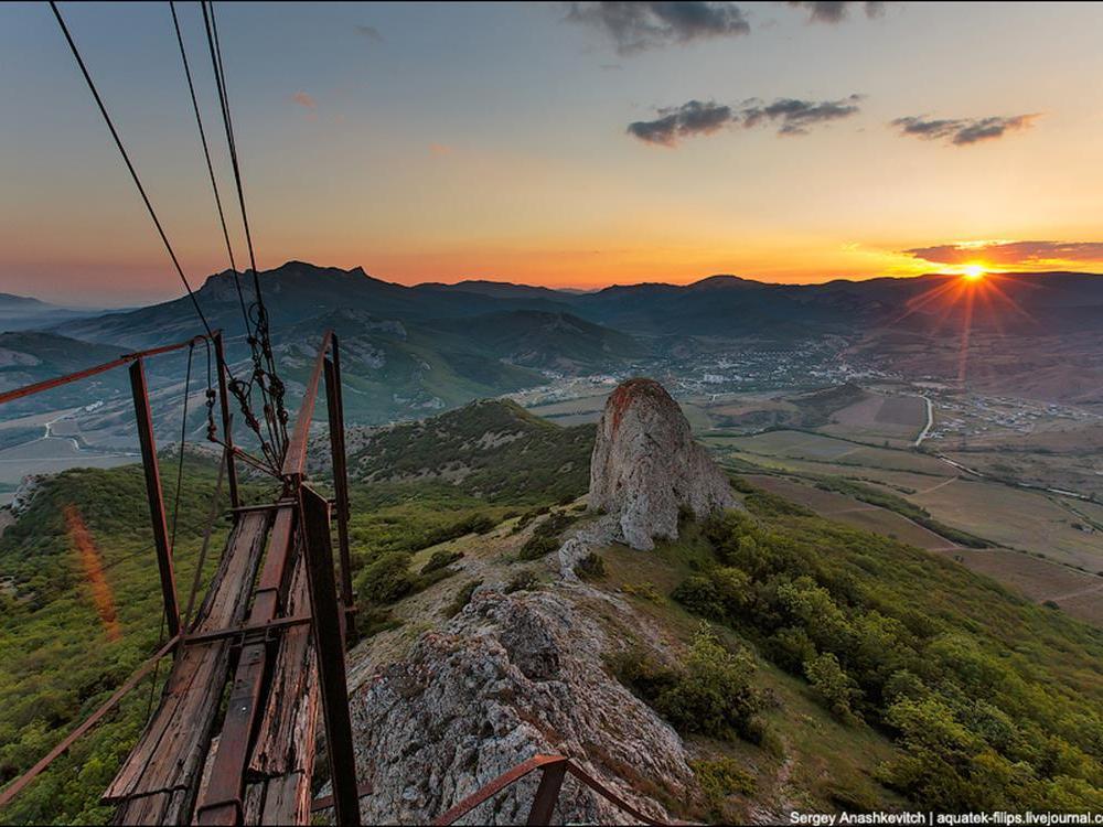 Abandoned lunar station in the Crimea