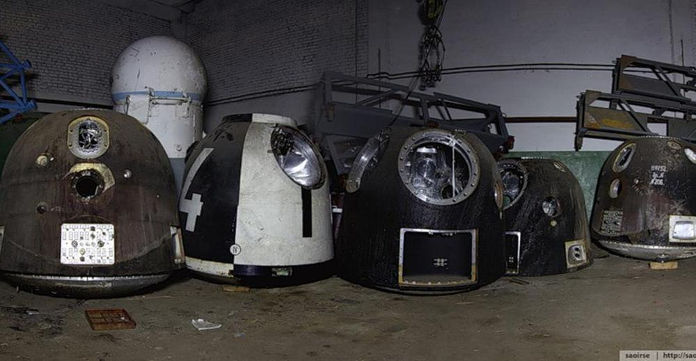 A space capsule graveyard