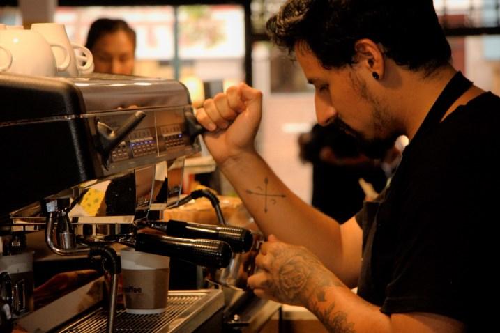 Lees Baudouin, barista de Puma Coffee