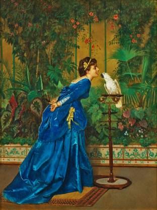 Femme au perroquet - non daté