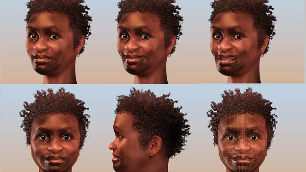 Una reconstrucción del rostro de Luzia