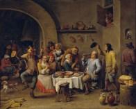 David Teniers. La fiesta del rey haba. 1650-1660. Museo del Prado