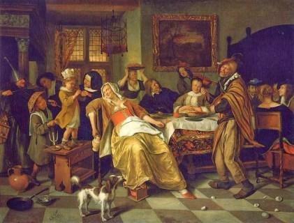Jan Steen. La fiesta del haba. 1668