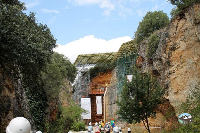 Entrada al yacimiento de Atapuerca