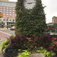Now that's a pretty whimsical clock! It stands in front of The Heldrich Hotel.