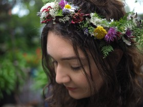 Close up of wild flower crown