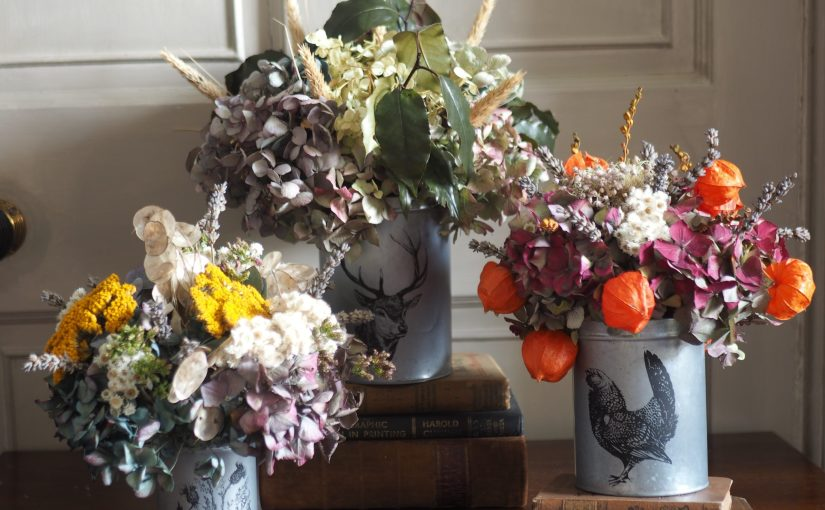 New Dried Flower Arrangements and Wreaths now available to buy!