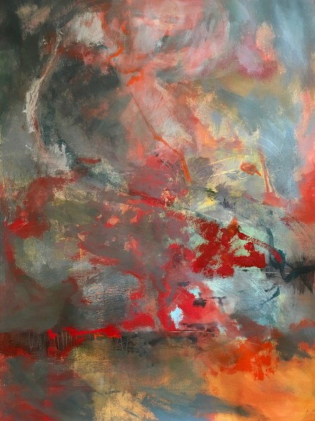 Conflagration Abstract Painting