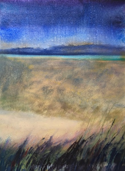 """Evening Vista"" Mixed Media on Paper 15""x20"" ©Ruth Armitage"