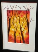 Fire or Autumn, watercolor, by Cheri W.