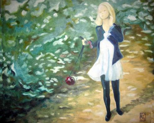 Jana im Sommerwald