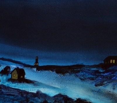 Heimfjæra - Acrylic Painting by R.T.Brokstad
