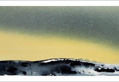 Vintergult landskap - R.T.Brokstad