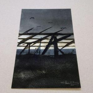 Small painting that once was a part of what became Capriocious Beautiful - Watercolour - RT Brokstad
