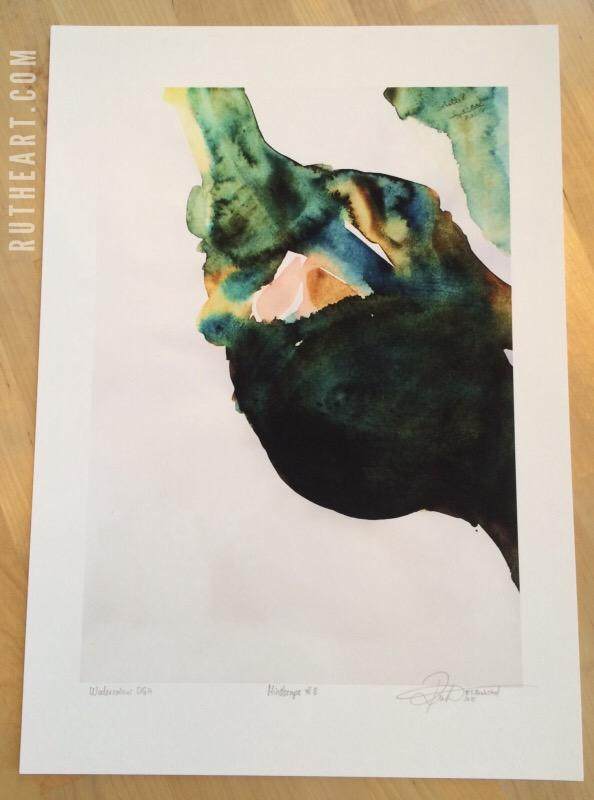 FRAMED Print: Mindscape #8-Techniques > Digital Graphic Artwork, Framed, Size > Medium (21-50 cm, eg. A4 and A3), Styles > Mindscapes-Rutheart
